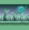 fantasy seamless alien landscape vector image vector image