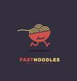 fast noodles logo vector image