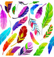 feathers seamless pattern in vector image vector image