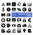 finance glyph icon set bank symbols collection vector image vector image