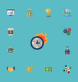 flat icons break financing limit and other vector image vector image