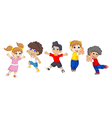 funny children cartoon jumping vector image vector image