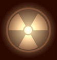 glow button with radiation symbol vector image vector image
