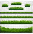 green grass frame with transparent background vector image vector image