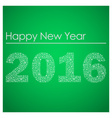 green happy new year 2016 from little snowflakes vector image vector image