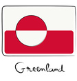 Greenland flag doodle vector image