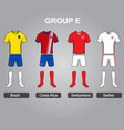 group e team jersey vector image vector image