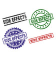 grunge textured side effects seal stamps vector image
