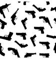 guns set seamless pattern vector image
