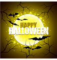 Happy Halloween sign on moon background vector image vector image