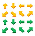 isometric arrow icon set vector image vector image