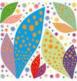 large color leaves bright pattern symmetrical vector image