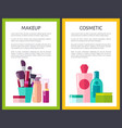 makeup cosmetic color posters vector image vector image