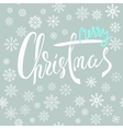 Merry Christmas blue and white lettering design vector image vector image