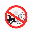 no idling engine off sign icon vector image