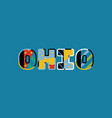 ohio concept word art vector image