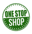 one stop shop grunge rubber stamp vector image
