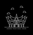padang traditional house landmark city in vector image vector image