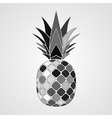 pineapple gray mosaic icon vector image vector image