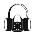 Protective ear muffs and respirator icon vector image