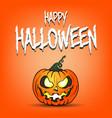 pumpkin happy halloween vector image vector image