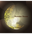 Ramadan Kareem background with islamic ornament vector image vector image