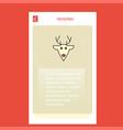 reindeer mobile vertical banner design design vector image