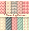 Romantic different seamless patterns tiling vector image vector image