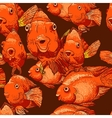 Seamless background with fish vector image vector image