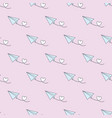 seamless repeat pattern design with paper planes