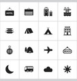 set of 16 editable holiday icons includes symbols vector image