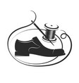 shoe the needle and the thread coil are vector image vector image