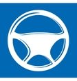 Sign in the form of auto Steering wheel vector image