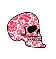 Skull of flowers head of skeleton and flower