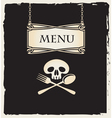 skull with a spoon and fork vector image vector image