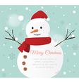 Snow man Card vector image vector image
