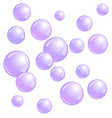 soap bubbles realistic water beads blue blobs vector image vector image
