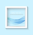 square 3d photo frame with sample content vector image vector image