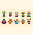 tribal mask ethnic african aztec and hawaiian vector image