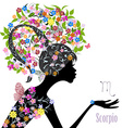 Zodiac sign scorpio fashion girl vector image vector image
