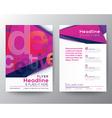 Abstract Triangle Brochure Flyer design Layout vector image