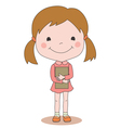 girl and book vector image