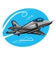 jet fighter vector image