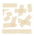 Scotch adhesive tape pieces set vector image