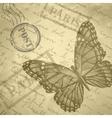 Light beige grange scratched background old paper vector image