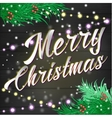 merry Christmas lettering Background vector image