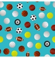 Sport Balls for Different Games Background Pattern vector image
