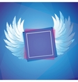 white wings with square frame vector image
