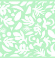 abstract mint green and white floral background vector image vector image