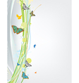 abstract spring background with butterfly vector image